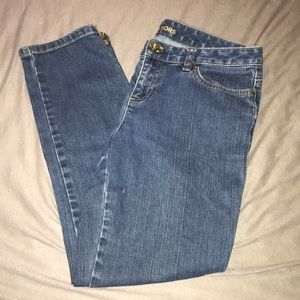 Micheal Kors zipper ankle jeans